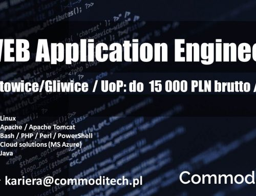 WEB APPLICATION ENGINEER KATOWICE / GLIWICE