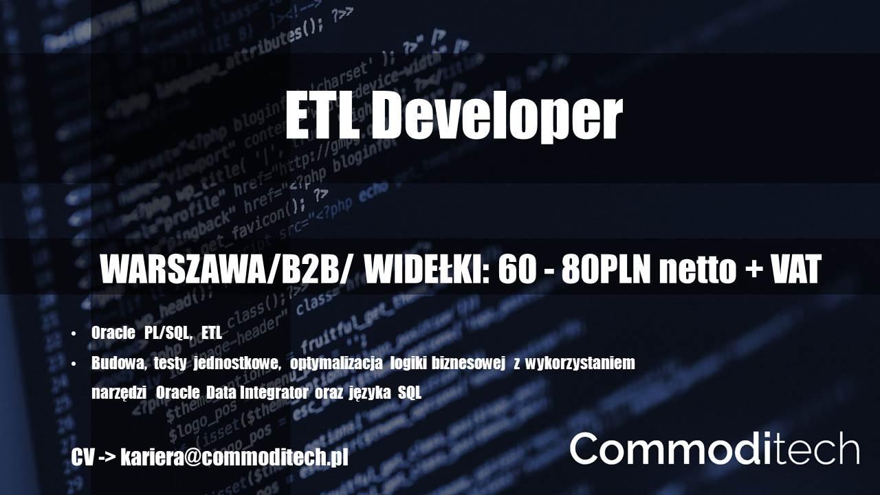 ETL Developer – Warszawa